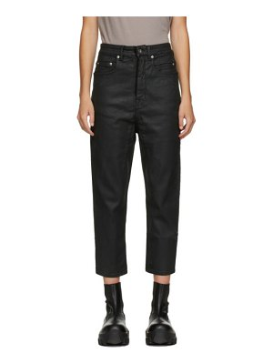 Rick Owens DRKSHDW black cropped collapse jeans