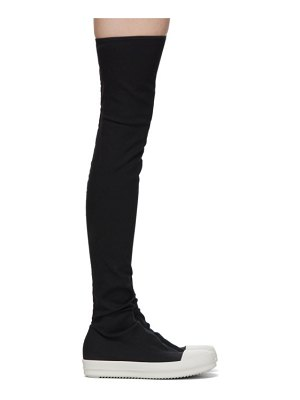 Rick Owens DRKSHDW black stocking over-the-knee boots