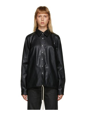 Rick Owens DRKSHDW black vegan leather shirt