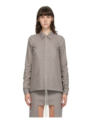 Rick Owens DRKSHDW grey cotton shirt jacket