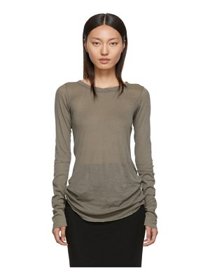 Rick Owens grey rib long sleeve t-shirt