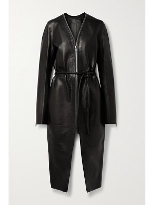 Rick Owens klaus belted textured-leather coat