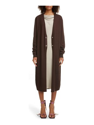 Rick Owens long wool snap cardigan