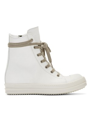 Rick Owens off-white bumper high-top sneakers