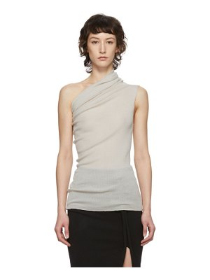 Rick Owens off-white one shoulder tank top