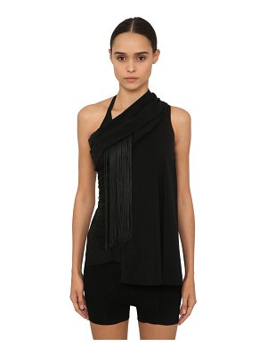 Rick Owens One shoulder stretch jersey top