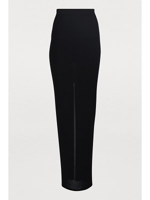 Rick Owens Pillar silk maxi skirt