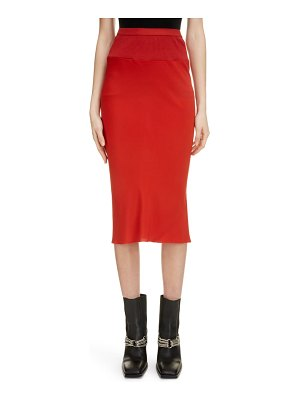 Rick Owens pleat back midi skirt