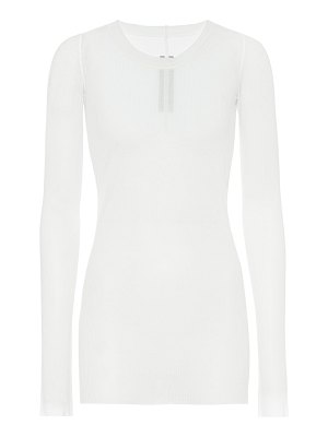 Rick Owens ribbed-knit silk-blend top