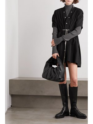 Rick Owens sail tie-detailed cotton-poplin mini dress