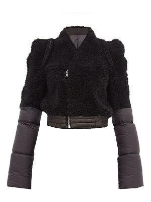 Rick Owens shearling panelled padded shell jacket
