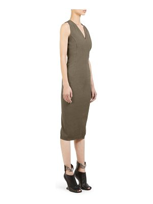 Rick Owens v-neck stretch-grosgrain sheath dress