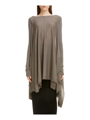 Rick Owens wool poncho sweater