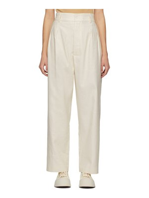 Rika Studios off-white diane trousers