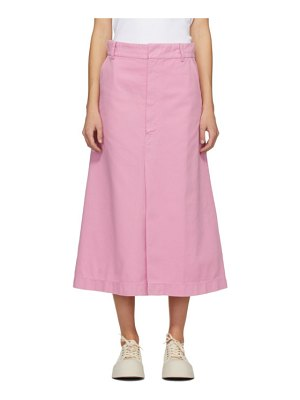 Rika Studios pink denim blush skirt