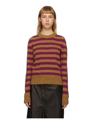 Rika Studios ssense exclusive tan and purple striped sunny sweater