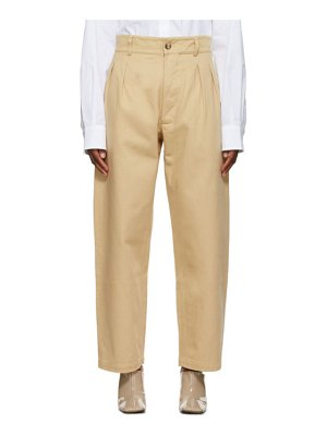 Rika Studios tan annie hall trousers