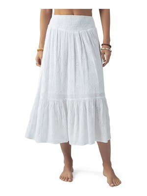 Rip Curl moonlit nights eyelet maxi skirt