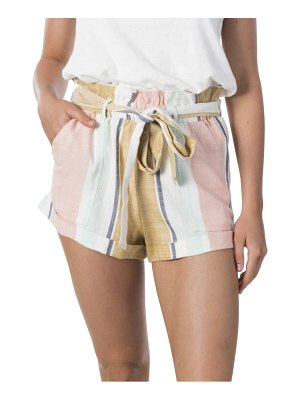 Rip Curl sunsetters stripe paperbag shorts