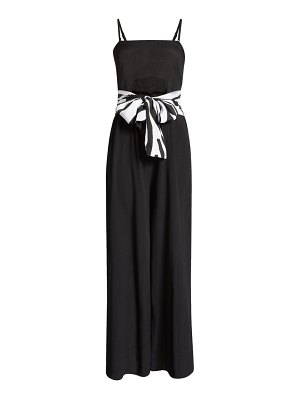 River Island bandeau belted sleeveless cover-up jumpsuit