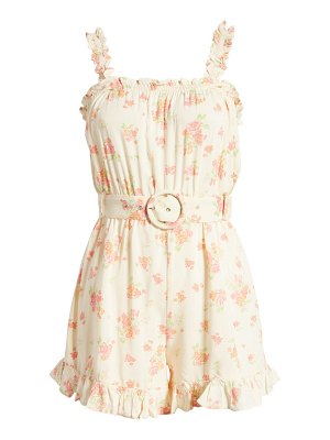 River Island floral belted frill sleeveless romper