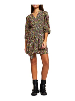 River Island floral print wrap minidress