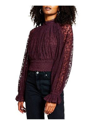 River Island high neck lace crop top