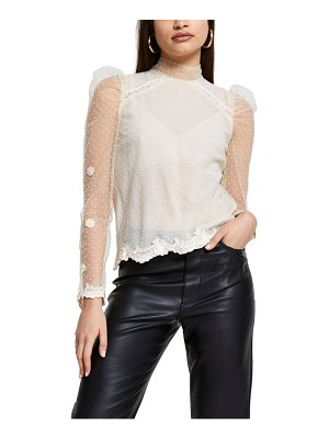 River Island lace mock neck top