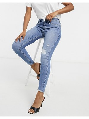 River Island molly distressed skinny jeans in light blue-blues