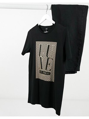 River Island monogram graphic t-shirt in black