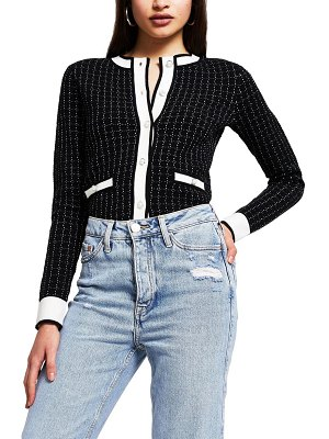 River Island neat boucle cardigan