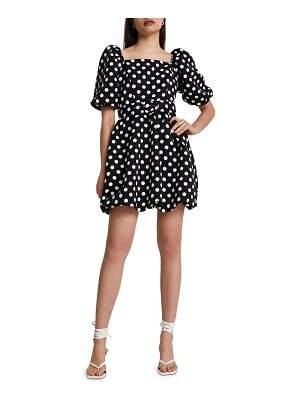 River Island puff sleeve belted dress