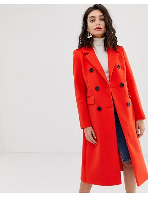 River Island tailored coat in red