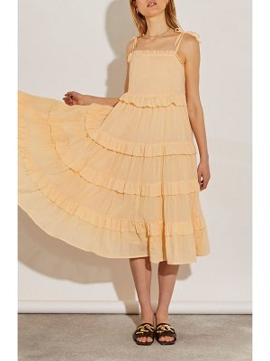 River Island tie shoulder tier ruffle cover-up sundress