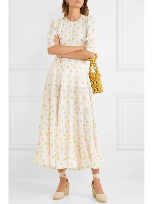 Rixo agyness tiered floral-print voile maxi dress