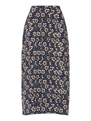 Rixo Georgia printed silk midi skirt