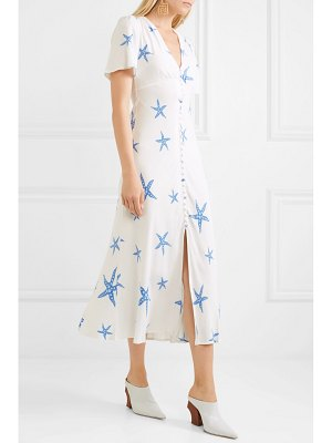 RIXO London jade printed crepe de chine midi dress