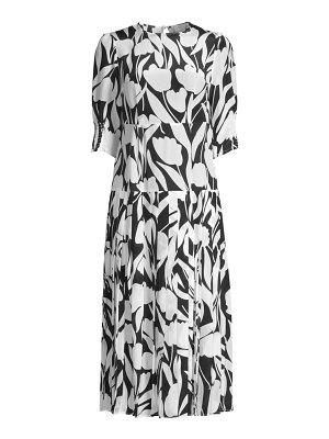 Rixo sheree floral silk midi dress