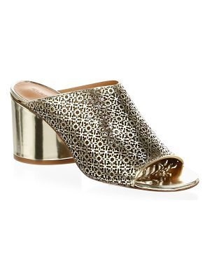 CLERGERIE cara metallic leather mules