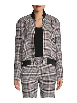 Robert Rodriguez plaid bomber jacket