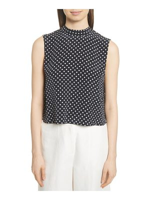 Robert Rodriguez polka dot ruffle back top