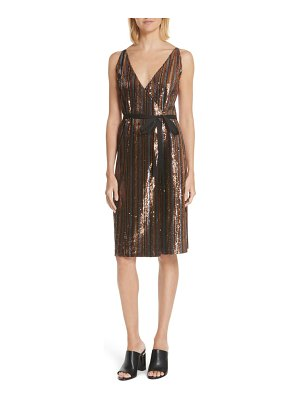 Robert Rodriguez sequin stripe dress
