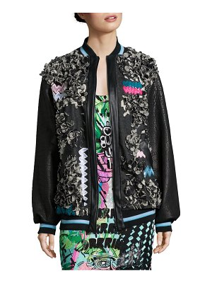 Roberta Einer Eye-Catching Bomber Jacket