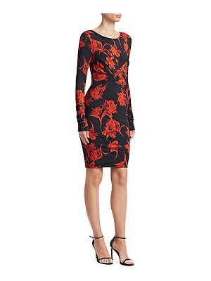 Roberto Cavalli wrapped tulip bodycon dress