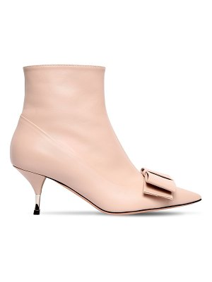 Rochas 60mm bow leather ankle boots