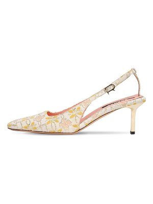Rochas 60mm jacquard slingback pumps