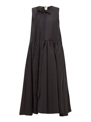 Rochas bow-embellished faille midi dress