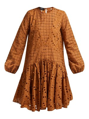 Rochas broderie-anglaise cotton dress