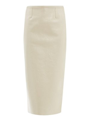 Rochas crackled-leather pencil skirt