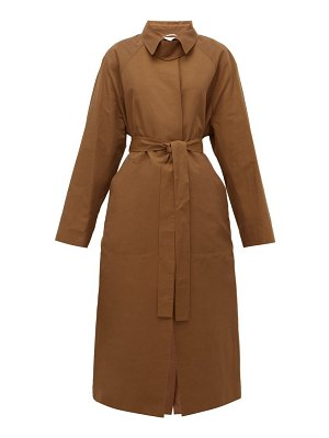 Rochas duchesse belted trench coat